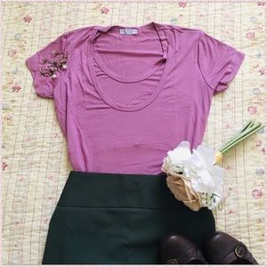 Flattering Ruched Pink Breastfeeding Nursing Top